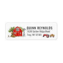 Red Barn | Farm Themed Return Address Label