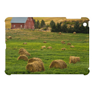 Red Barn, hay bales, Albion, Palouse Area 2 Cover For The iPad Mini