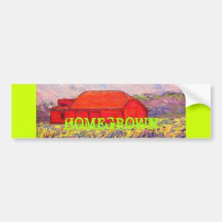 red barn homegrown art bumper sticker