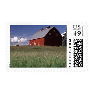 Red barn in Latah County, Idaho state PR (MR) 2 Postage