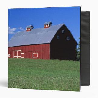 Red barn in Latah County, Idaho state PR MR) 3 Ring Binder