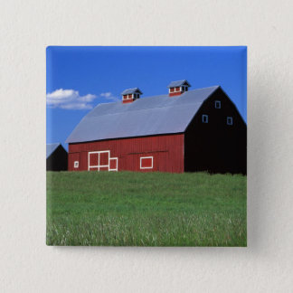 Red barn in Latah County, Idaho state PR MR) Button
