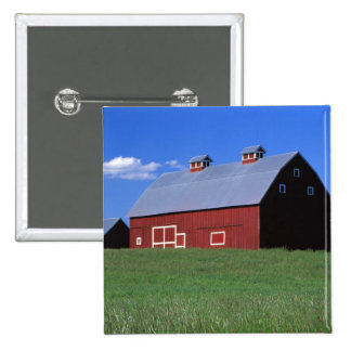Red barn in Latah County, Idaho state PR MR) 2 Inch Square Button