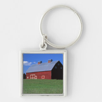 Red barn in Latah County, Idaho state PR MR) Keychain