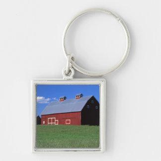 Red barn in Latah County, Idaho state PR MR) Keychain