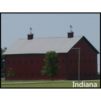 Red Barn in Northern Indiana stamp