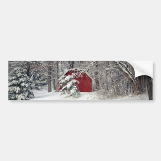 Red Barn in the Snow 2011 Bumper Sticker