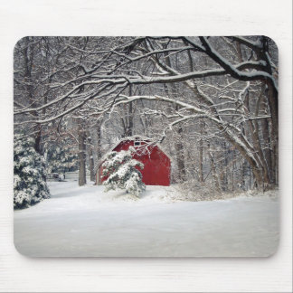 Red Barn in the Snow 2011 Mouse Pad