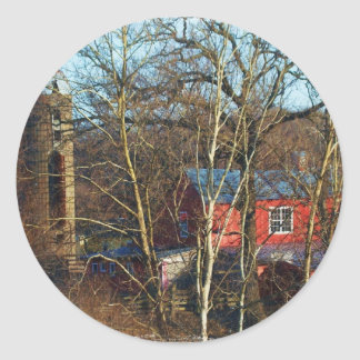 RED BARN IN THE WOODS STICKERS