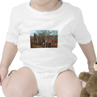 RED BARN IN THE WOODS T SHIRTS