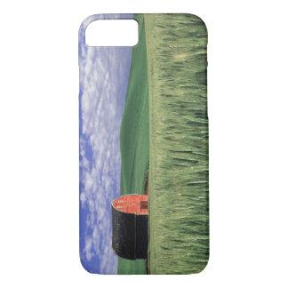 Red barn in wheat & barley field in Whitman 2 iPhone 8/7 Case