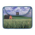 Red barn in wheat & barley field in Whitman 2 Sleeves For MacBook Pro