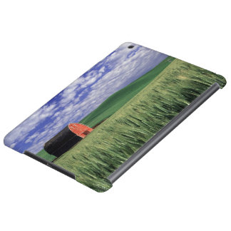 Red barn in wheat & barley field in Whitman Case For iPad Air