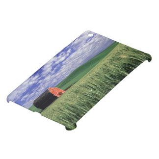 Red barn in wheat & barley field in Whitman iPad Mini Case