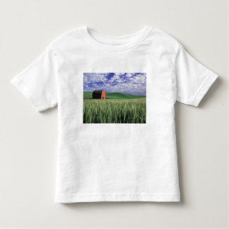 Red barn in wheat & barley field in Whitman Toddler T-shirt