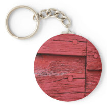 Red Barn Keychain