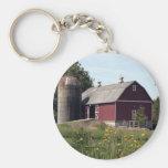 Red Barn Keychain