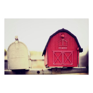 Red Barn Mailbox {you've got mail series} Poster