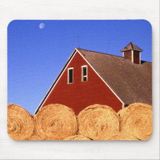 Red Barn Moon Mouse Pad