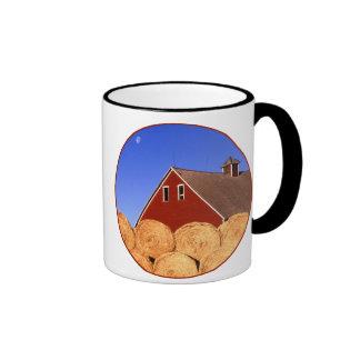 Red Barn Moon Ringer Mug