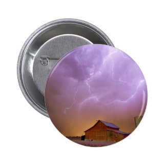 Red Barn on a Farm and What a Beautiful Sight Pinback Buttons