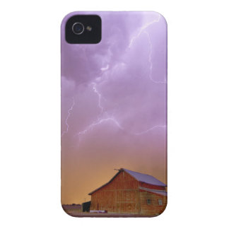 Red Barn on a Farm and What a Beautiful Sight iPhone 4 Case-Mate Case