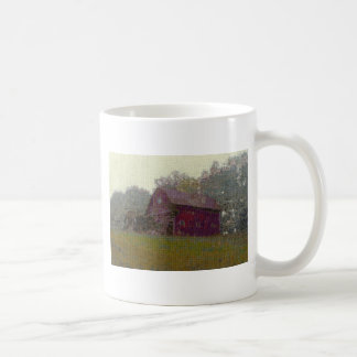 Red Barn on the Hill Classic White Coffee Mug