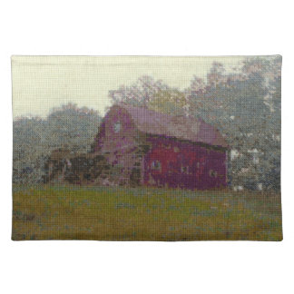 Red Barn on the Hill Cloth Placemat