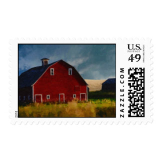 Red Barn Painted Postage