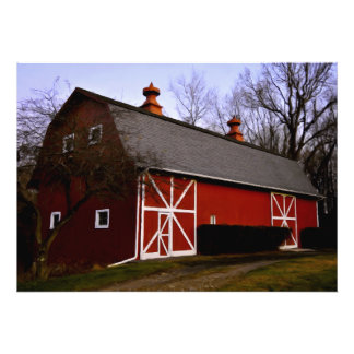 Red Barn Photo Print