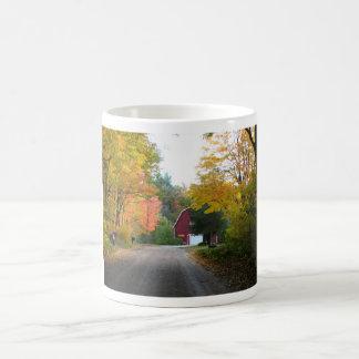 Red Barn Road Classic White Coffee Mug