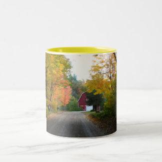 Red Barn Road Two-Tone Coffee Mug