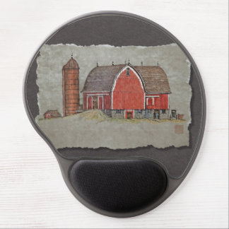 Red Barn & Silo Gel Mouse Pad
