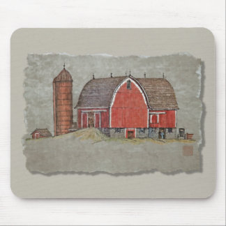 Red Barn & Silo Mouse Pad
