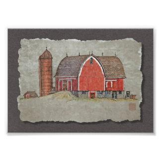 Red Barn & Silo Photo