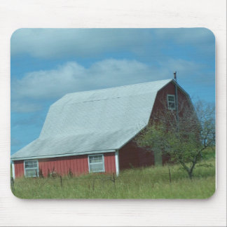 Red Barn&Small Tree, Mousepad