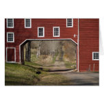 Red barn spring greeting cards