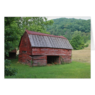 Red Barn Stationery Note Card
