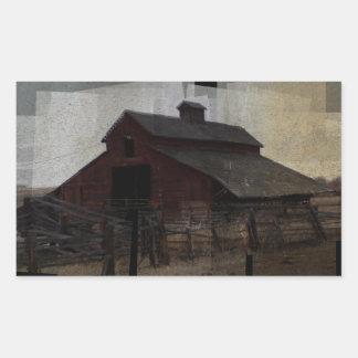 Red Barn Rectangular Sticker