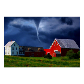 Red Barn Storm Poster