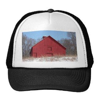 Red barn trucker hats