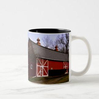 Red Barn Two-Tone Coffee Mug