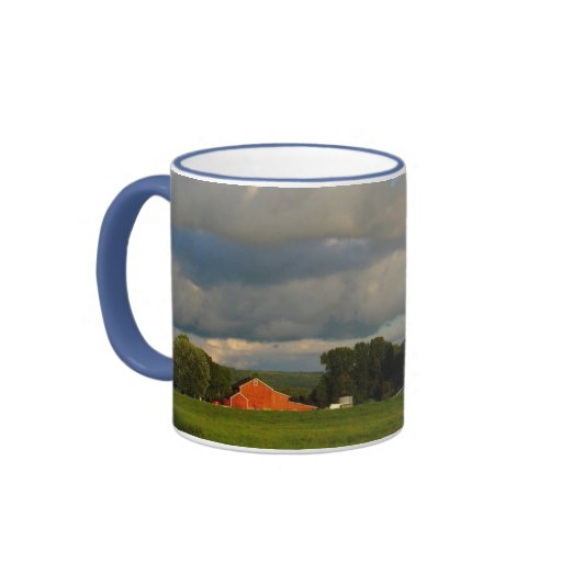 Red Barn Under the Weather Ringer Mug