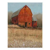Red Barn View Poster