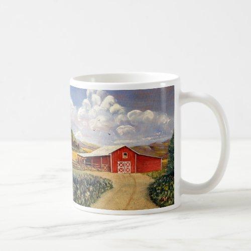Red Barn West Virginia Farm Fine Art Painting Coffee Mug