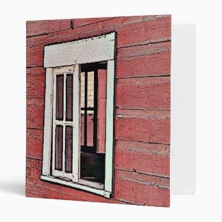 Red Barn Window 3 Ring Binder