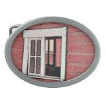Red Barn Window Belt Buckles