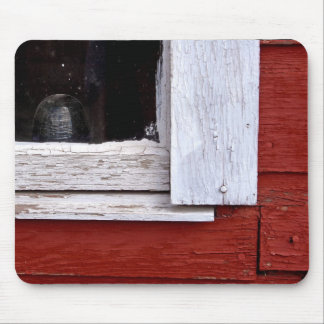 Red Barn Window Mouse Pad