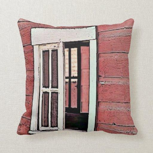 Red Barn Window Pillows