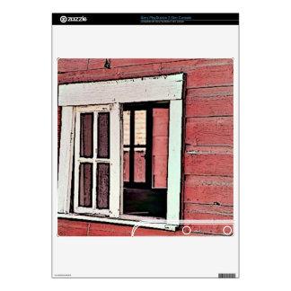 Red Barn Window PS3 Slim Console Skin